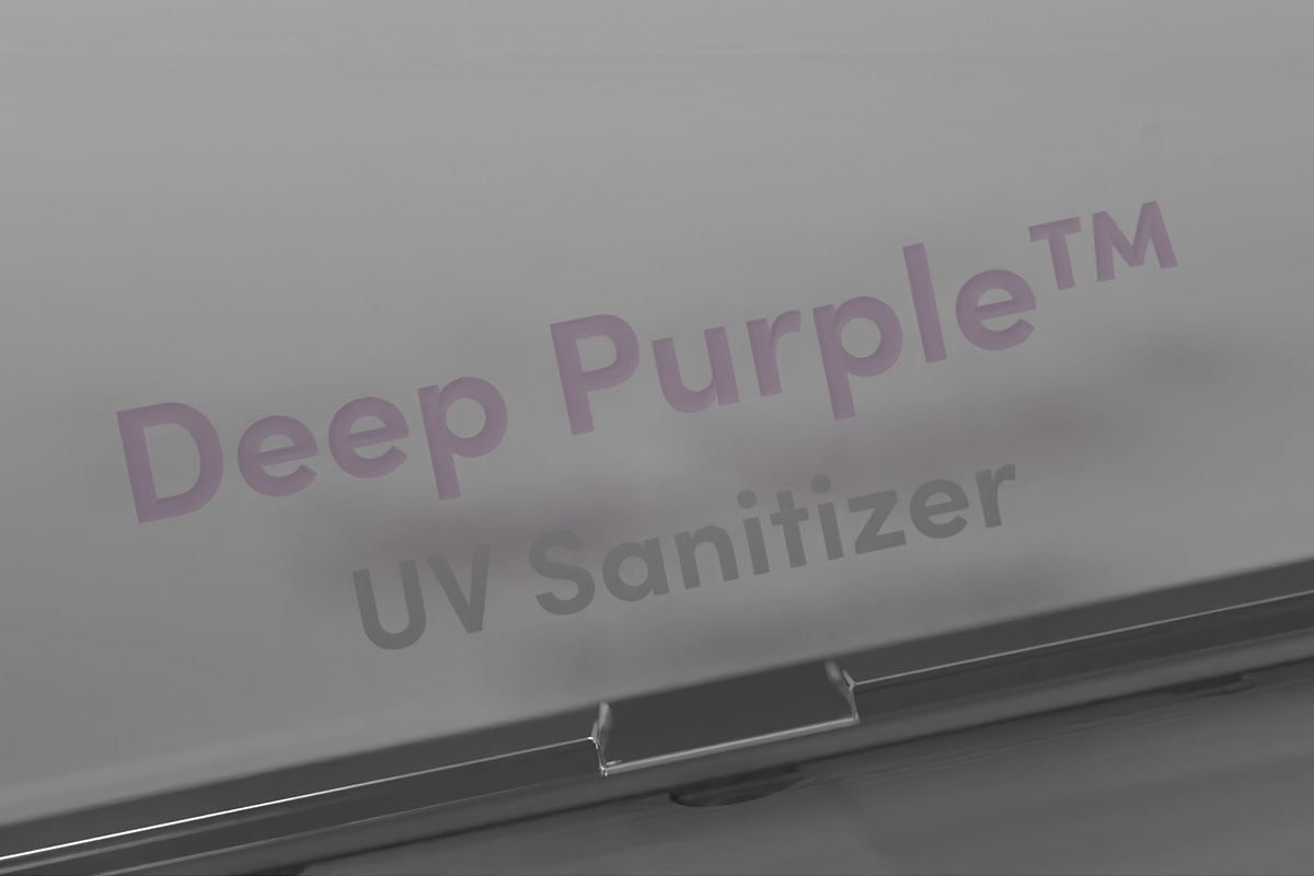 UV light is invisible to the human eye, and Deep Purple™ keeps it safely contained to avoid leakage and potential human harm. Inside is an effectiveness indicator which contains UV-reactive paint that changes color when exposed to UV-C rays, so you can know for sure that your belongings have received a sufficient dosage of UV light for a thorough clean.
