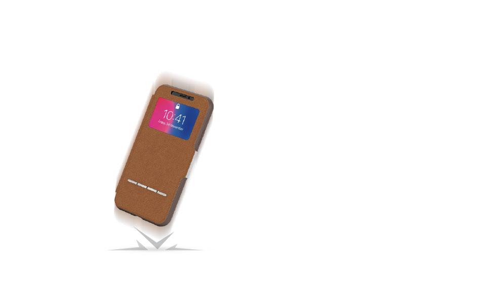 Senscover protege su teléfono de caídas, rasguños y golpes.