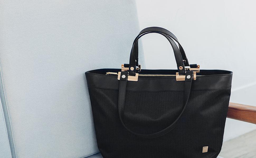 Verana aporta un toque elegante y sofisticado a su ropa de trabajo, con espacio suficiente para llevar todos los objetos básicos cotidianos.