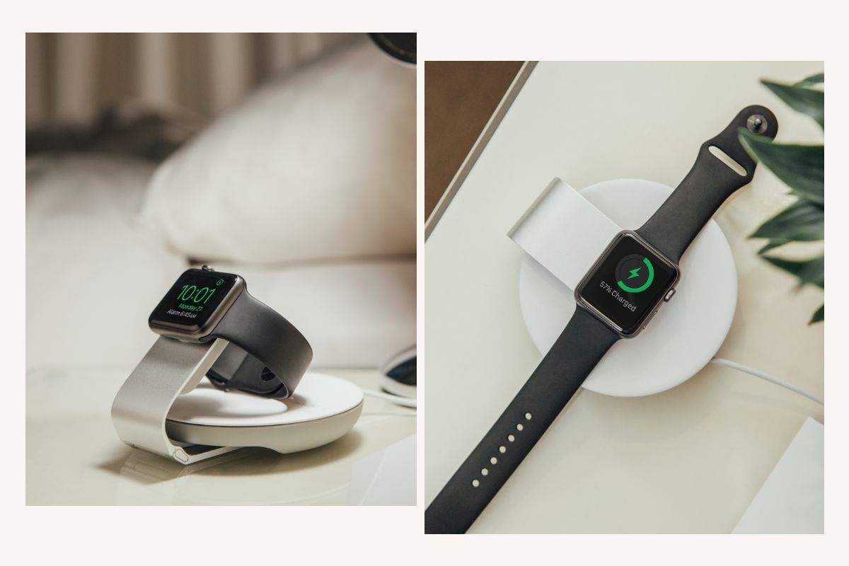 A durable folding aluminium hinge not only allows you to get the ideal angle for viewing your Apple Watch while charging, but also folds flat for enhanced portability while traveling.