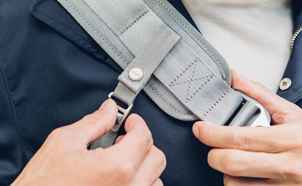 Um Ihre Tasche sicher bei sich zu halten, während Sie Radfahren oder zu Fuß durch überfüllte Bereiche gehen.