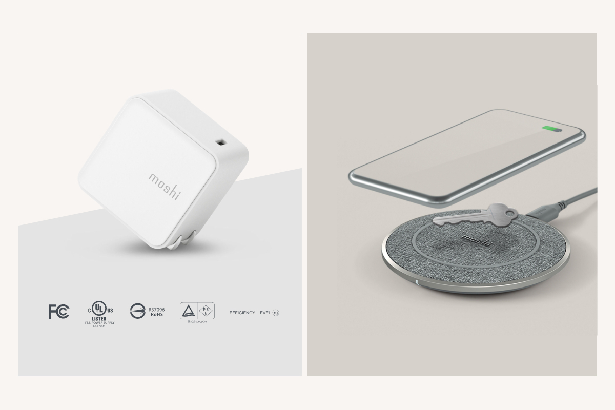 Charge with peace of mind. Otto Q features Foreign Object Detection (FOD) for safer wireless charging, while the Qubit USB-C Charger includes power management circuitry providing overcurrent, over-voltage, and surge protection, and compliance with the US Department of Energy's Level VI efficiency standard.