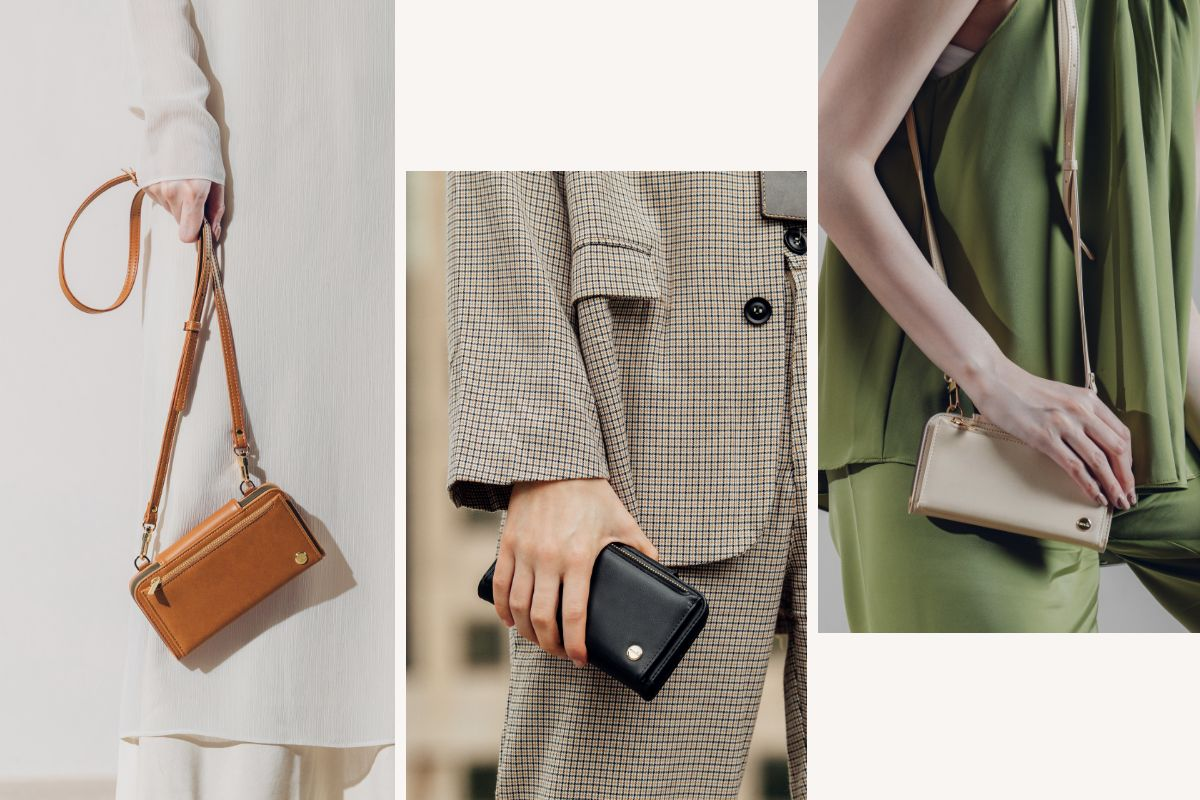 A detachable and adjustable crossbody strap gives you hands-free convenience when on the go. Extremely versatile, it can be carried on the shoulder, cross-body, under the arm, or as a clutch.