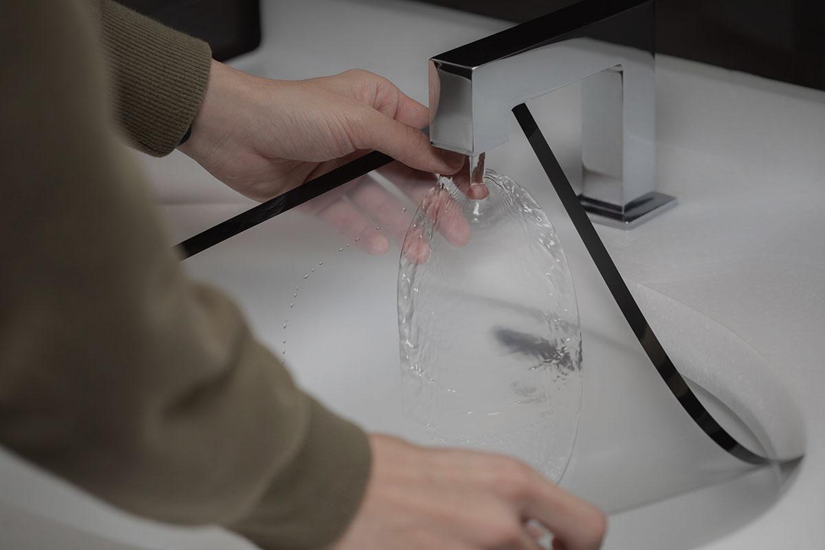 iVisor ist leicht sauber zu halten, kann gewaschen und wiederholt aufgebracht werden.