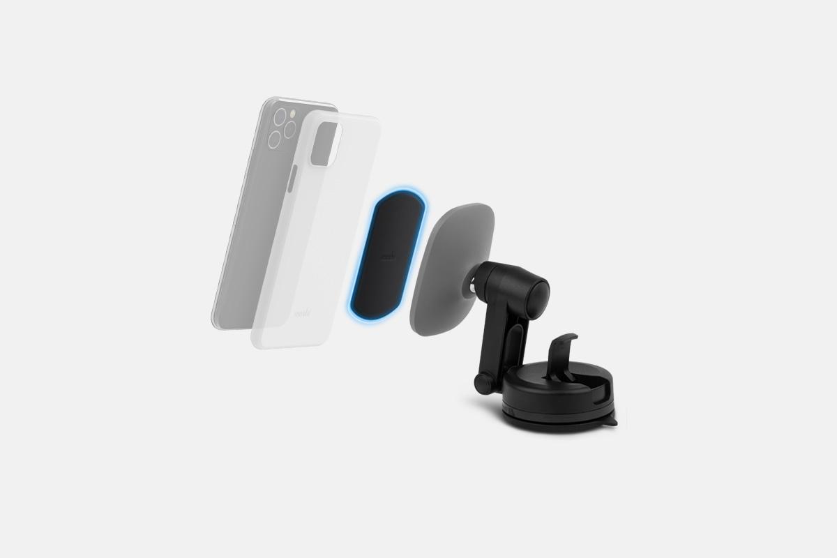 В комплект входит переходная магнитная пластина SnapTo, которая позволит разместить большинство моделей телефонов и чехлов.