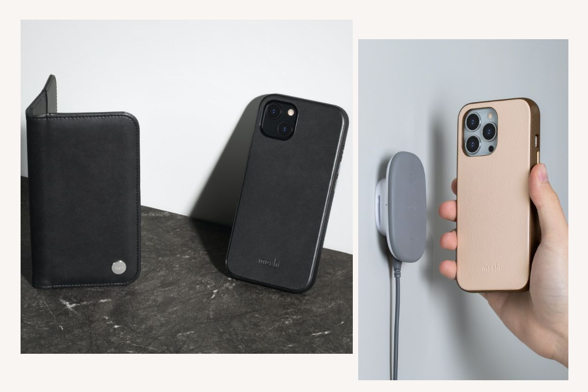 Carry Overture as your wallet for a night out, or quickly and easily detach the slim shell case and slip it into your pocket at the gym. The slim case supports Moshi's SnapTo magnetic mounting system and wireless charging pass-through. Looking for a wireless charger? Power up on the go with Porto Q - part of our stylish Q Wireless Charging Series.