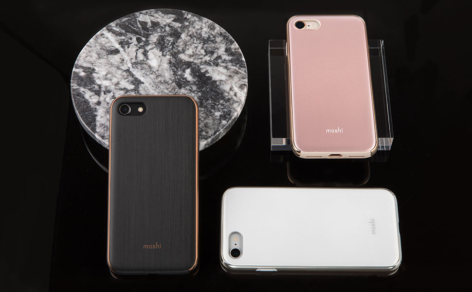 The case's raised bezel protects your touchscreen from scratches when laid flat.