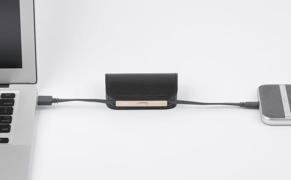 SmartSense™回路はスマホとIonBankを同時に充電します。