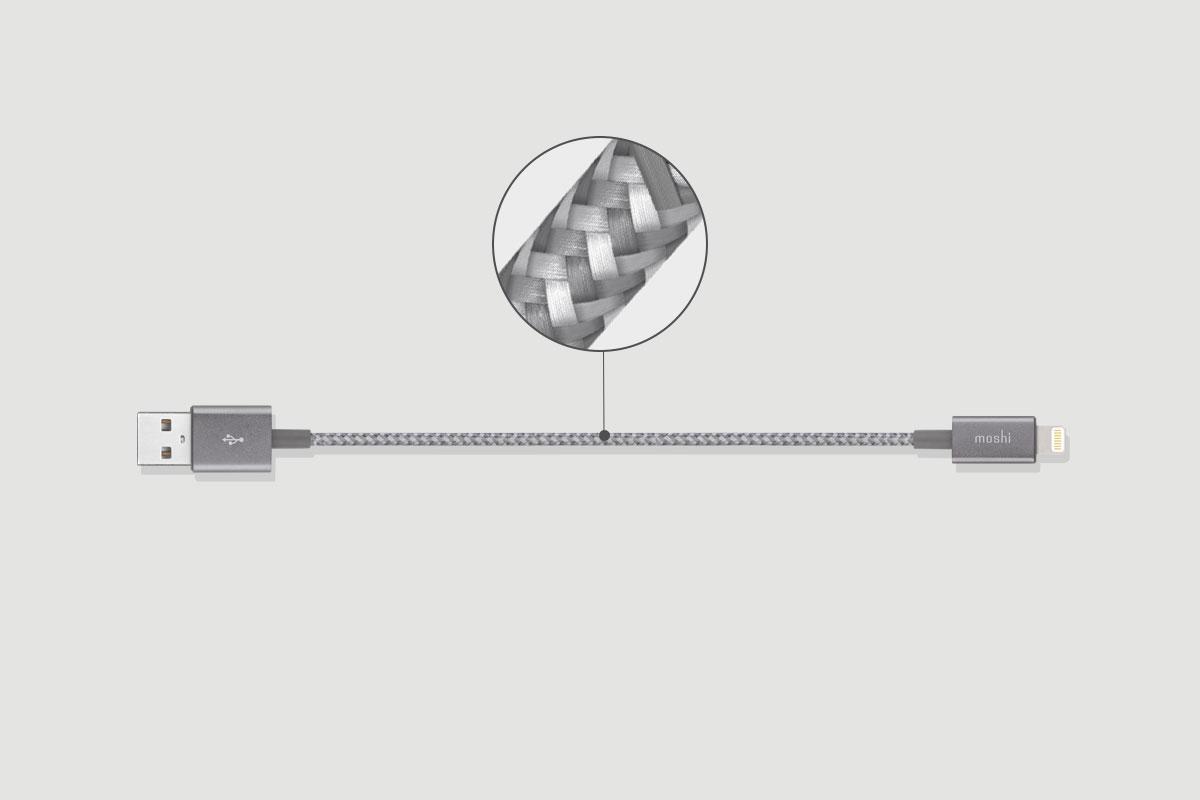 Construido con trenzado de nylon balístico y con recubrimientos de aluminio con resistentes puntos de alivio de tensión, nuestros cables Integra son excepcionalmente duraderos.
