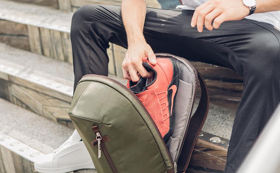 Hexa 是您的日伴背包,陪您城市酷游、运动、通勤,或是去另一个城市的冒险。 三色:午夜黑、森林绿、卡其棕