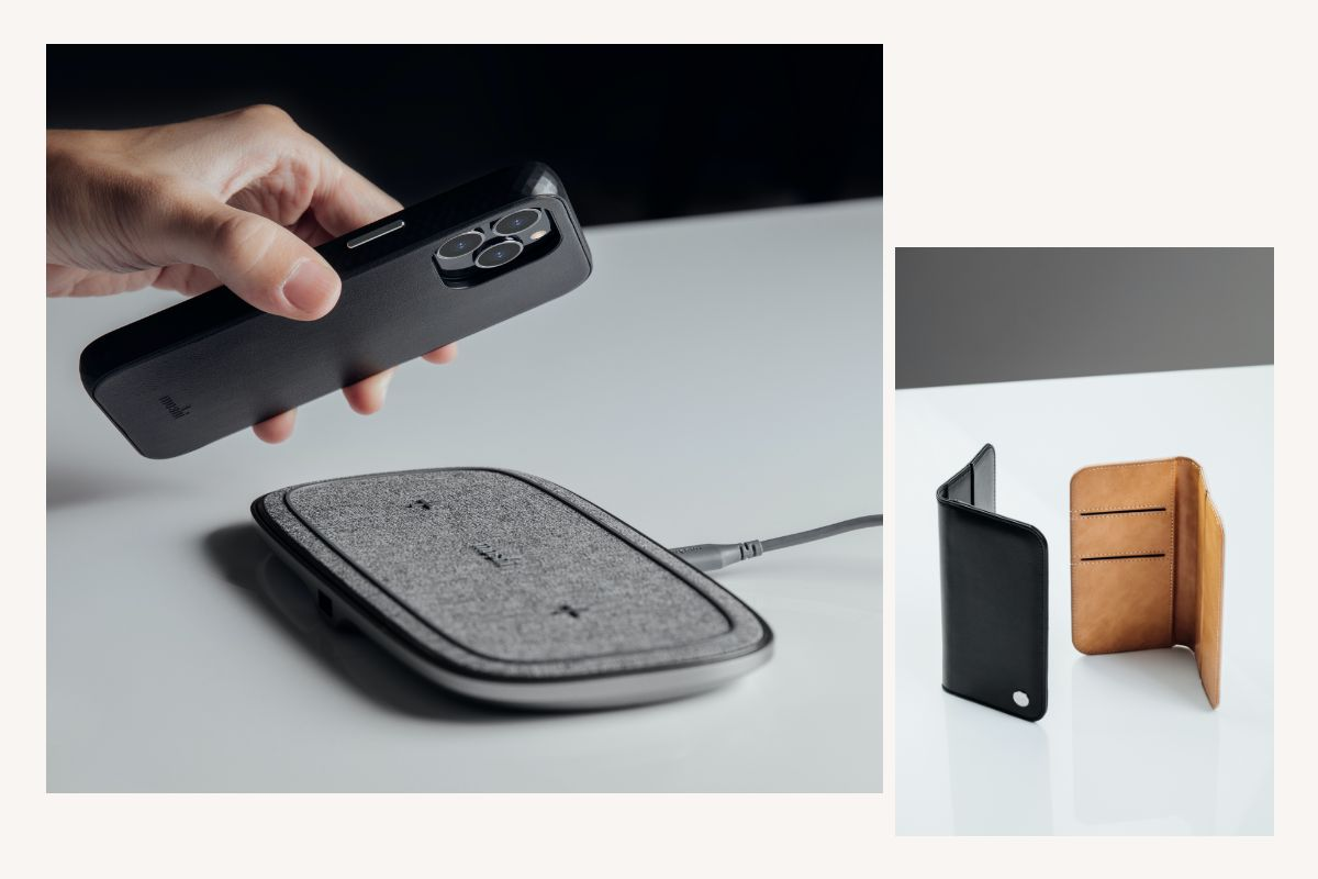 Overture fully encases your phone—including camera lenses—to help to protect them from scratches and bumps which can occur when placing the phone on a table, or in a bag with keys, coins and cables. Need to snap a photo? Simply lift your phone away from the wallet and you're ready to shoot.
