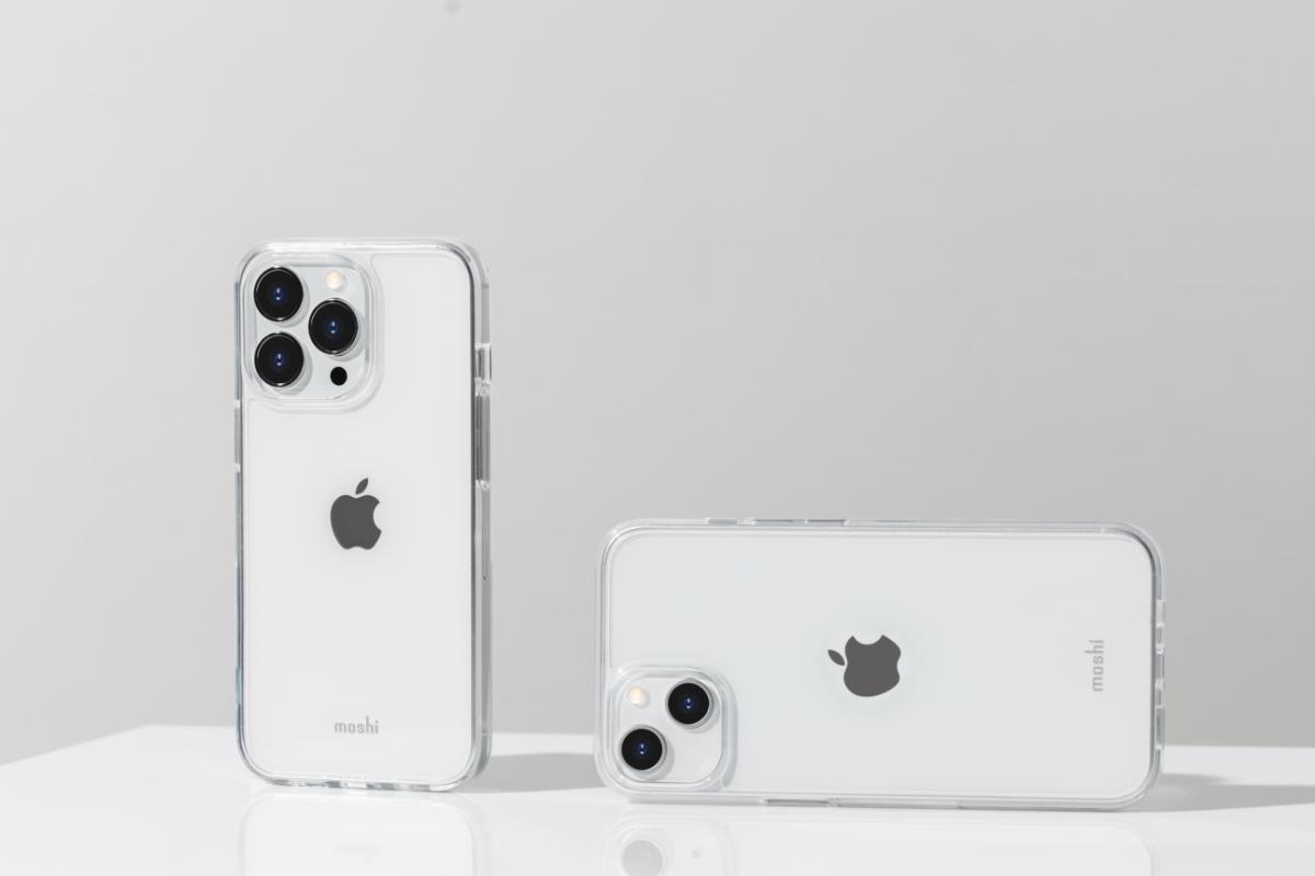 Eine transparente Rückseite unterstreicht das dünne Design Ihres Telefons und zeigt gleichzeitig das Apple Logo, während die MicroGrid™ Technologie Wasserflecken und UV-Vergilbung verhindert.