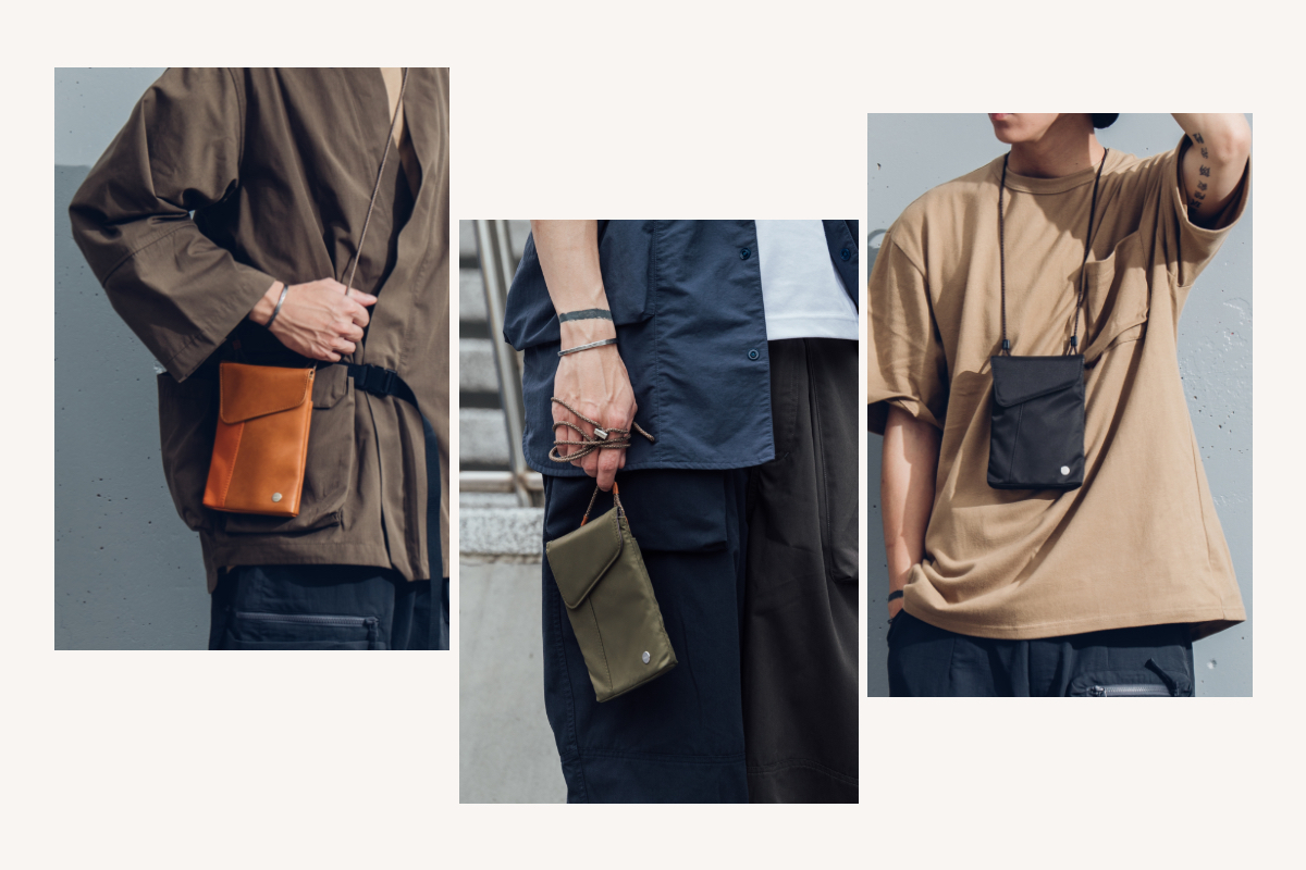 The included adjustable strap lets you wear Aro Mini crossbody, over the shoulder, or concealed under your jacket for the perfect carry in any situation. Aro Mini can also be worn horizontally or carried in-hand as a clutch. Want to change up your look? Moshi's new [Adjustable Body Strap](https://www.moshi.com/product/adjustable-body-strap/camo-beige) lets you mix and match to find the perfect style for any occasion (sold separately).