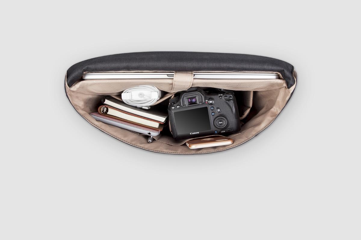 С дополнительными отделения для iPad/планшетов, камер или наушников.