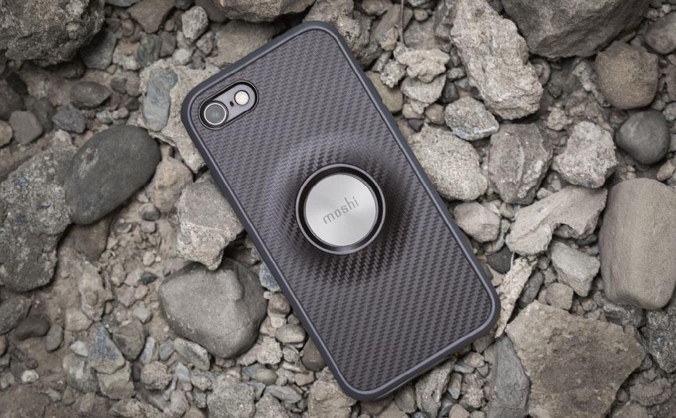 El polímero patentado HexCore protege su iPhone de caídas* de 10 pies (3 metros) sobre cemento.