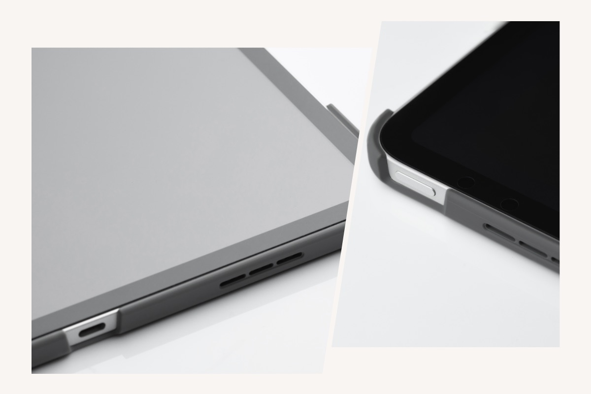 VersaCover won't obstruct the operation of your iPad, with precision cut outs allowing easy access to the buttons and camera.