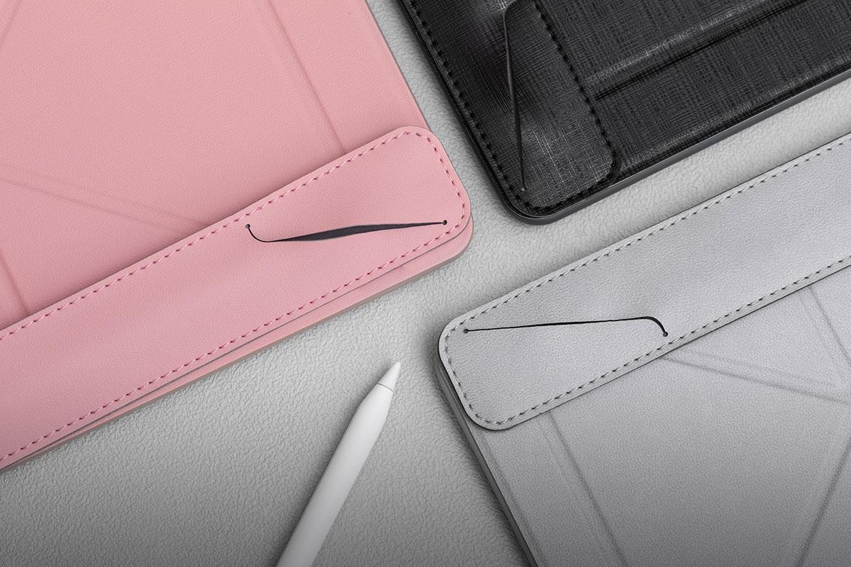 以高質感環保皮革及柔軟的微纖維襯墊製成。