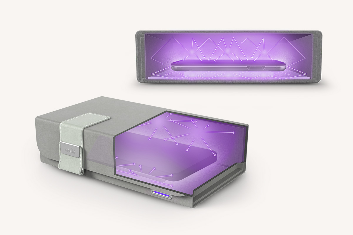 No need to flip devices over for a second clean. Deep Purple's proprietary LumiClear™ platform not only raises objects up off the base of the interior, but also allows UV-C light to pass through and make contact with the underside of the objects being cleaned. Clean your items with a single 4-minute cycle—no need to flip them over for a second clean.