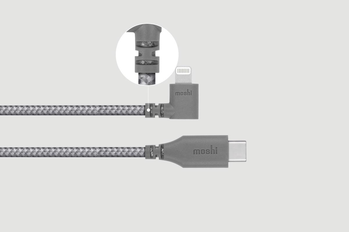 Votre câble reste protégé même plié ou courbé.
