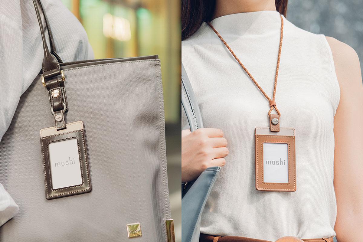 Llévala al cuello o quita el cordón si prefieres llevar la tarjeta en el bolsillo.
