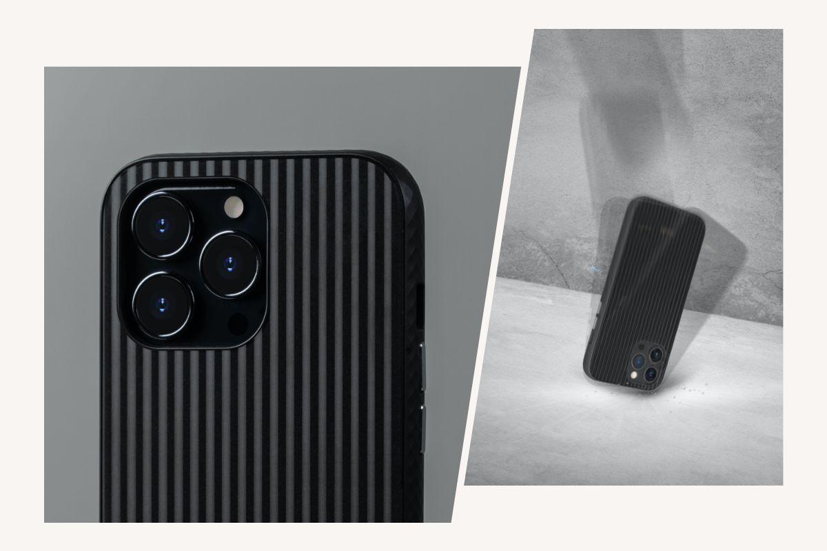 双层背板清透出细腻珍珠光泽质地,在任何场合皆是全场焦点,採用柔软及坚韧双重材质製成,保护力升级。并通过美国军规级防摔测试标准,能保护您的手机无论从任何角度落下,最高从4英尺(122cm)高处掉落而不受损伤 (MIL-STD-810G, SGS认证),可预防日常生活中的意外情况。