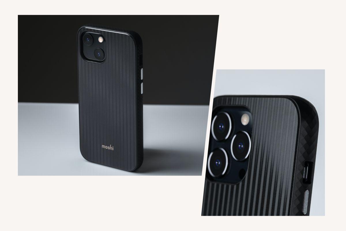 边框加高设计避免屏幕放置桌面造成磨损,独立铝合金按键可轻松的调节手机音量及电源键。