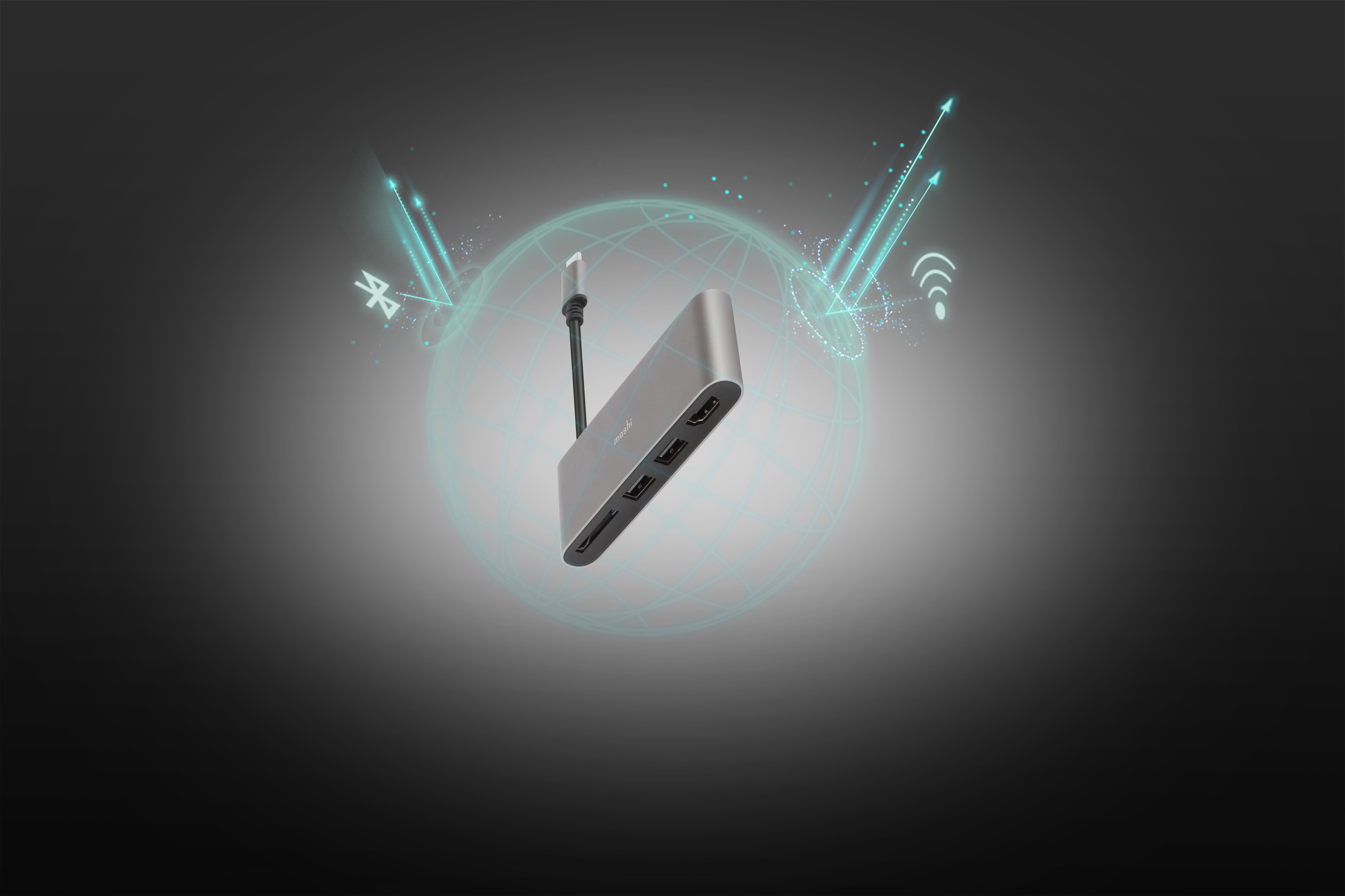 Das Adaptergehäuse aus Flugzeugaluminium minimiert nicht nur EM-Störungen, sondern vervollständigt auch Ihr Gerät.