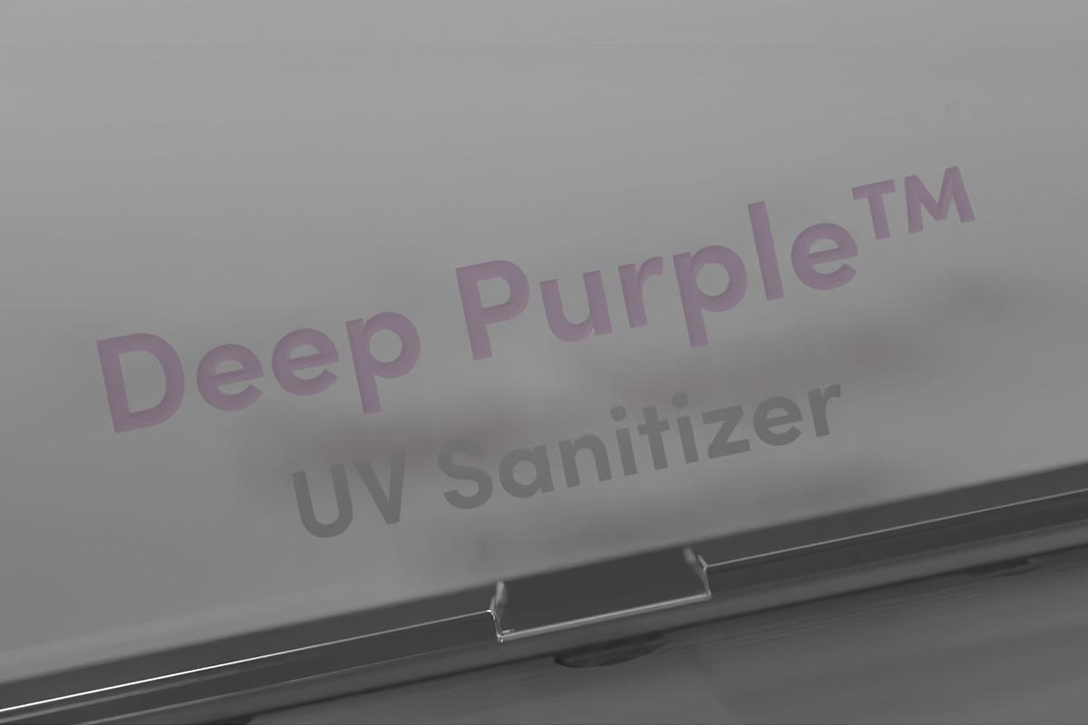 Deep Purple™ garde en sécurité la lumière UV, invisible pour l'œil humain, afin d'éviter les fuites et les dommages potentiels pour l'homme. A l'intérieur du boîtier, un indicateur d'efficacité, contenant de la peinture réactive aux UV et qui change de couleur lorsqu'il est exposé aux rayons UV-C, assure que vos objets reçoivent une dose suffisante de lumière UV pour une désinfection en profondeur.