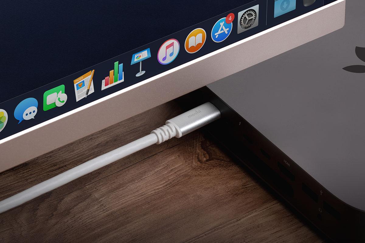 Verwenden Sie Ihren USB-C-Laptop oder Ihr USB-C-Smartphone, um hochauflösendes Video und digitales Audio direkt an einen Fernseher oder Monitor zu streamen.