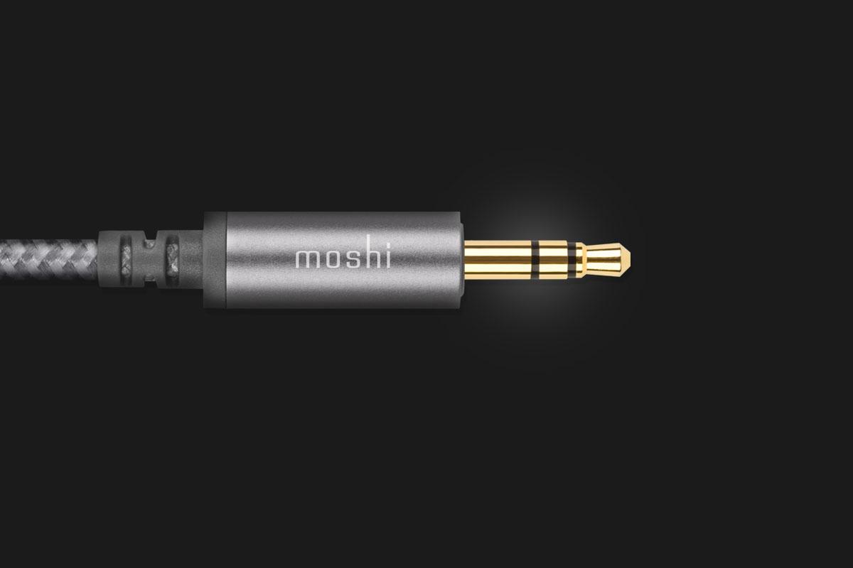 Le connecteur est à double blindage avec placage or 24K pour assurer un transfert audio de haute qualité sans interférence.
