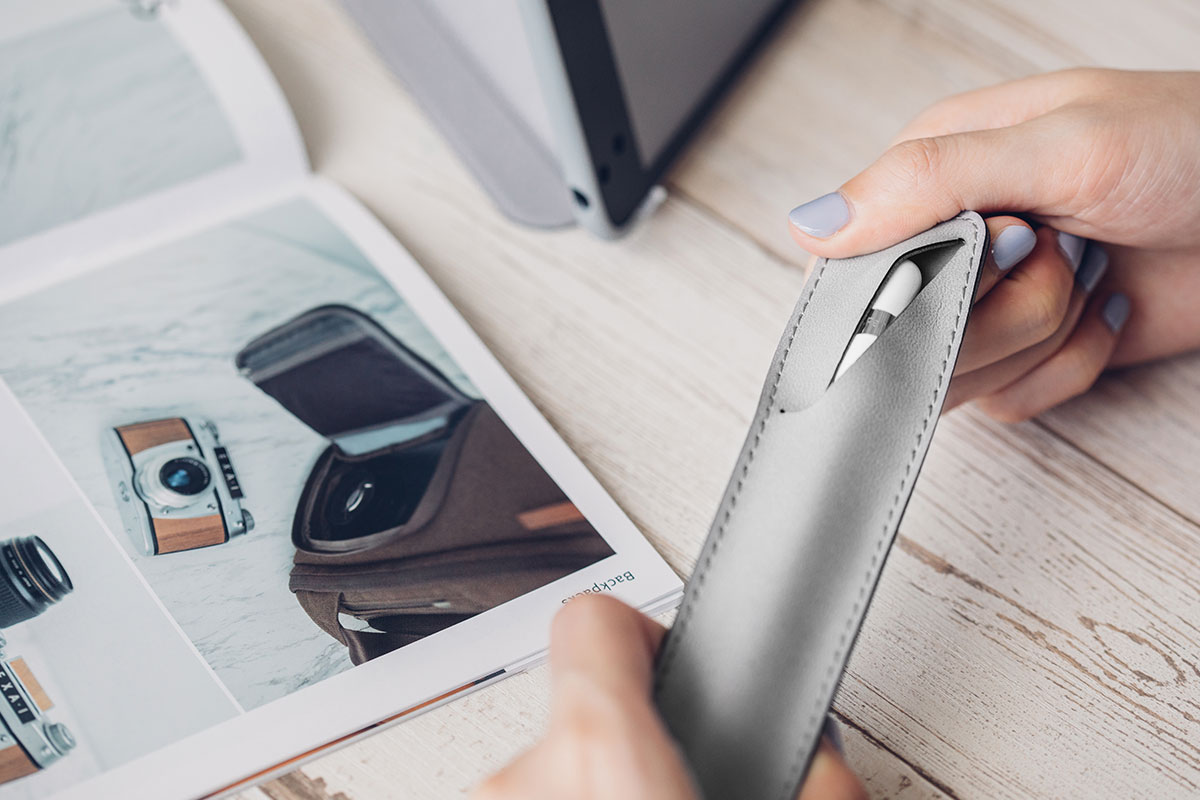 Moshi's Apple Pencil Case is specially designed to stick magnetically to VersaCover for a convenient all-in-one carry and protection solution.