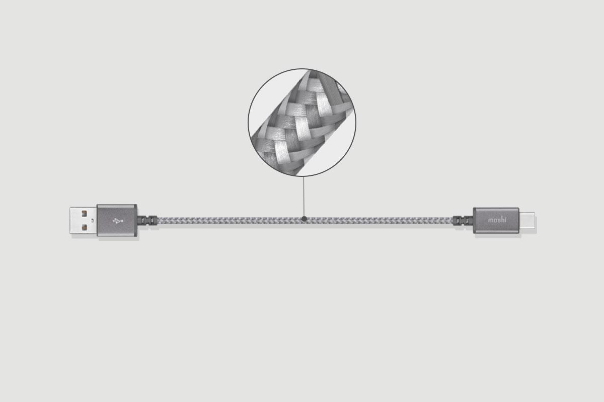 特色包含高强度尼龙编织技术、耐用的拔插施力点以及阳极氧化铝外壳设计。