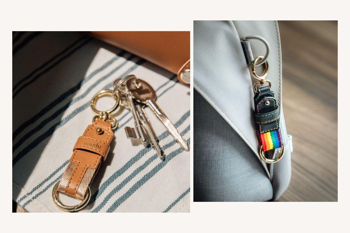 快速,轻松地将Moshi的钥匙扣夹到您的背包,旅行袋,手提包等物品上。专为耐用性而设计,配有优质锌合金环扣,可让您的钥匙整齐收纳,易于查找,从而提供了额外的保护,可防止丢失