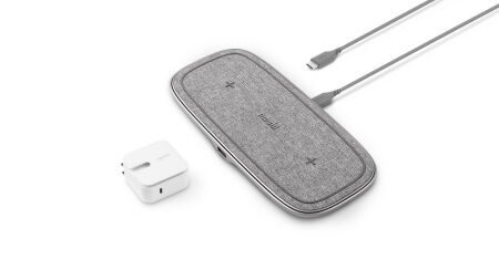 View larger image of: Sette Q dual wireless charging pad 15 W EPP with power adapter-1-thumbnail