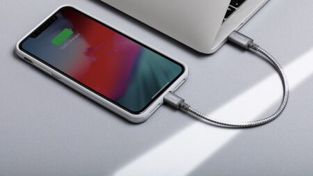 View larger image of: Integra™ USB-C to Lightning Cable 0.8 ft (0.25 m)-5-thumbnail