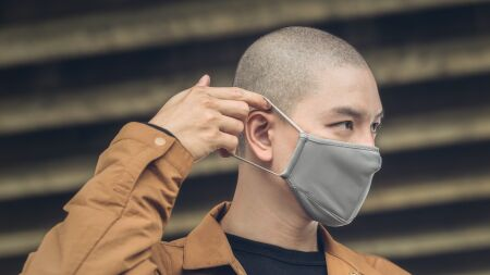 View larger image of: OmniGuard™ Mask with 3 Replaceable Nanohedron filters-5-thumbnail