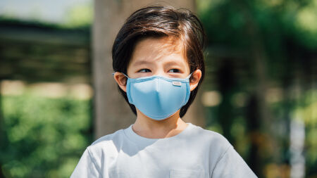 View larger image of: OmniGuard™ Kids Mask with 3 replaceable Nanohedron™ filters-5-thumbnail