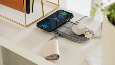 View larger image of: Sette Q dual wireless charging pad 15 W EPP with power adapter-5-thumbnail