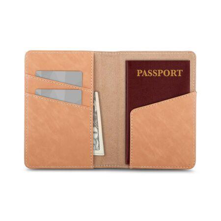 View larger image of: Vegan Leather Passport Holder-1-thumbnail
