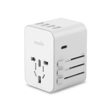 View larger image of: World Travel Adapter with USB-C and USB-A Ports-1-thumbnail