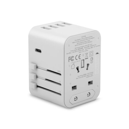 View larger image of: World Travel Adapter with USB-C and USB-A Ports-2-thumbnail