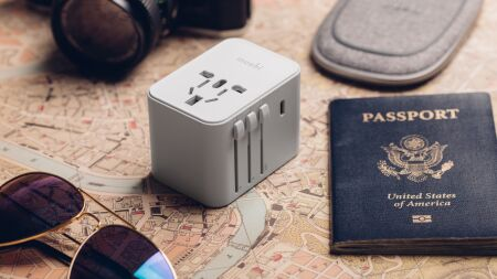 View larger image of: World Travel Adapter with USB-C and USB-A Ports-4-thumbnail