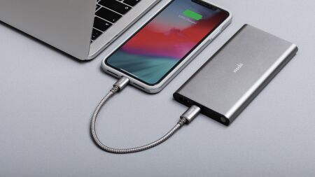 View larger image of: Integra™ USB-C to Lightning Cable 0.8 ft (0.25 m)-4-thumbnail